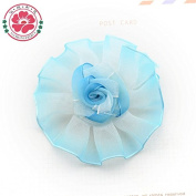100 Pieces, Colourful Decor Organza Flower Ribbon Rose Centre Craft Wedding for Sewing Decoration
