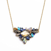 Lvxuan Exquisite Rhinestone Necklace 2015 Wholesale Newest Fashion Thin Chain Collar Necklace Jewellery