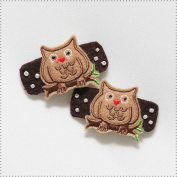 Best of Chums Baby Hair Accessories - Owl Felt Applique Hair Clip