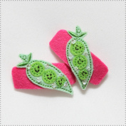 Best of Chums Baby Hair Accessories - Sweet Peas Felt Applique Hair Clip
