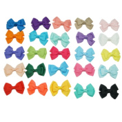 Skhls 25pcs 7.6cm Boutique Hair Bows Clips for Girls Kids Hair styling,Barrettes