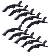 KLOUD City® 10 Pcs Crocodile Hair Styling Clips/Professional hair clips/Duck hair clips/Hairdressing Partition Clips