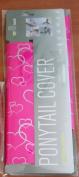 Hair Glove 20cm Neoprene Pink w/ Silver Foil Hearts 23189