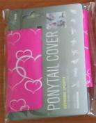 Hair Glove 10cm Neoprene Pink w/ Silver Foil Hearts 23149