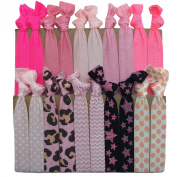 """PEPPERLONELY Brand 20PC """"Pink"""" No Crease Hair Ties"""