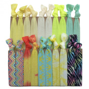 """PEPPERLONELY Brand 20PC """"Yellow"""" No Crease Hair Ties"""