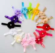 Lace Kenzola 12pcs Pearl Solid Colourful Hairbands Hairties Hair Ties Set