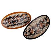 Wholesale 12 Pack Gourd Carved Barrette Fair Trade Peru Ornament Dozen Lot Retailer Source