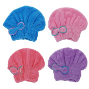 Dry Hair Hat Microfiber Hair Turban Quickly Dry Hair Hat Wrapped Towel Bathing Cap Useful Home Textile Towel