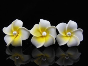16 Pieces Hawaiian Plumeria Pearl Flower Hair Clip Accessory for Women Hair Pin