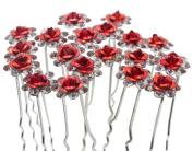 Nestarfactory Rose U-sharped Design Collection Metal Hiar Pins Pack of 20
