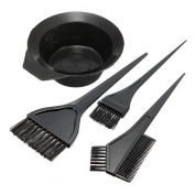 Goege Hairdressing Salon Hair Colouring Tools Dyeing Bowl Comb Brushes Kit Set Tint Colouring Bleac 4 Pcs