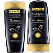 (SET) LOREAL Total Repair 5 (25% MORE) Shampoo & Conditioner 470ml each