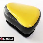 Fans Gear® Fashion Detangling Brush No Tangle Compact Style Hair Comb Brush - Yellow