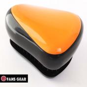 Fans Gear® Fashion Detangling Brush No Tangle Compact Style Hair Comb Brush - Orange