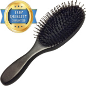 Boar Bristle Hair Brush - Added Nylon Bristles for Comfort & High Quality Wooden Handle - Satisfaction Guaranteed