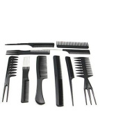 JETTINGBUY 10 Pcs Barbers Brush Combs Plastic Salon Hair Styling Hairdressing