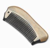 EQLEF® Beard Comb Horn Comb Medium Tooth Handmade Buffalo Horn Hair Comb, Pocket comb