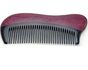 Anti Static Natural Buffalo Horn & Purpleheart Wood Comb, Pocket Comb 13cm