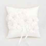 Wedding Ring Pillow Cushion Floral Wedding Bearer Flowers Cushion Pillow