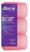 DIANE Self-Grip Rollers 4.4cm Pink 3-Pack