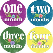 Rocket Bug Monthly Growth Stickers, Bunches of Flowers Baby