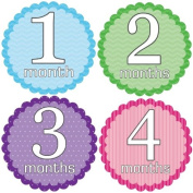 Rocket Bug Monthly Growth Stickers, Sweet and Simple Baby