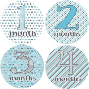 Rocket Bug Monthly Growth Stickers, Marching Elephants Baby