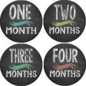 Rocket Bug Monthly Growth Stickers, Chalkboard Baby