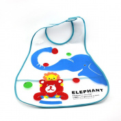 Waterproof Baby Bib Cartoon Pattern Infant Toddler Feeding Care Wrap Random Colour