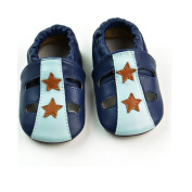 Shubb 100% Genuine Leather Baby Toddler Shoes 18-24months Blue