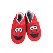 Baby Moccasins with Elmo Inspired Design for Boy Girl Infant Toddler Pre Walker Crib Shoe (6-12 month