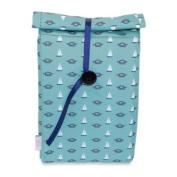 BlueAvocado' (eco) Button Bag in Green Nautical