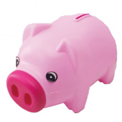 E.a@market Creative Cute Little Piggy Plastic Coin Bank Children's Piggy Bank Pink
