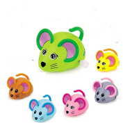 Cartoon Cute Gliding Animals Wind-up Toy Clockwork Small Cochain Toys Children's Early Educational Toys for baby 1-3 year old,6 pcs mouse