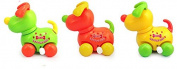 Children's educational clockwork toys cute cartoon naughty Wind Up Clockwork dog shape Design Toys,5 pcs dog