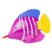 Activity Wind-up fish clockwork toy Colourful fish moving tail ornaments multifunctional swimming fish baby Swimming Pool water toys,colour random Flounder