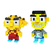 Gooband® LOZ Stewie Gryphon/Chris Set Pack of 2 Diamond Nanoblock Educational Toy 250pcs