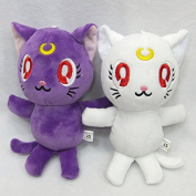Anime Sailor Moon Crystal Figures Luna Plush Toys Stuffed Dolls 2pcs Set 18cm