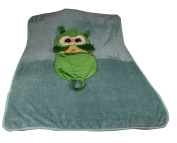 JINFU Children's Cartoon Animal Blanket,Portable and Packageable Blanket,Owl