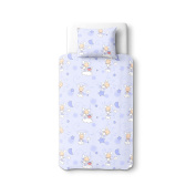 Baby Happy Lambs (Blue) - SoulBedroom 100% Cotton Bed Set