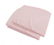 Portable Mini Crib Fitted Mattress Crib Sheet 100cm x 60cm x 13cm - 2 Pack