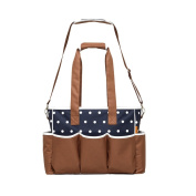 Fineplus Dot Baby Collection Bottle Bags Shoulder Straps Totes For Women Deep Blue