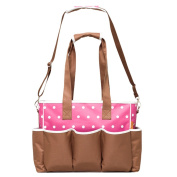 Fineplus Cute Dot Pattern Baby Products Shoulder Straps Tote Bags Pink