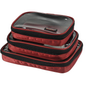 Waterproof 3pcs/set Portable Electronic Accessories Travel Organiser Case with Five Cable Tie