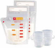 Ameda Store'N Pour Milk Storage Bags + 2 Adapters - 50 ct