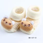 New Cartoon Newborn Baby Girl Boy Anti-slip Socks Slipper Shoes Boots 0-6Months No.12