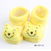 New Cartoon Newborn Baby Girl Boy Anti-slip Socks Slipper Shoes Boots 0-6Months No.13