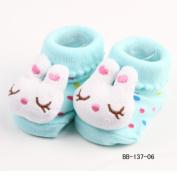 New Cartoon Newborn Baby Girl Boy Anti-slip Socks Slipper Shoes Boots 0-6Months No.6