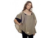 Poncho Baby Organic Nursing Cover, Oval Olive Green, Olive